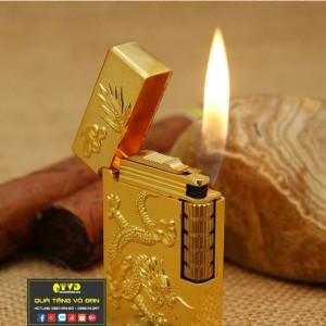 Bật lửa quẹt dupont rồng phụng vàng