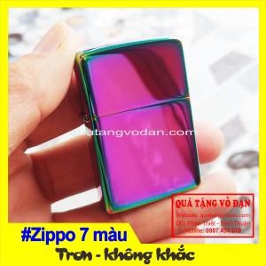 Zippo titan 7 màu  hàng trơn