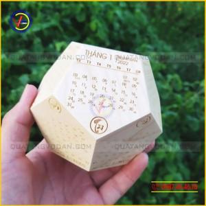 Lịch gỗ để bàn 12 mặt (gỗ maple)