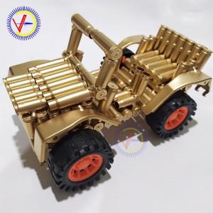 Xe Jeep vỏ đạn mô hình Cát tút