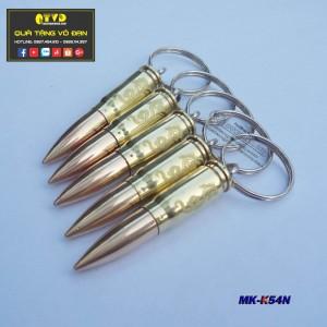 Móc khóa vỏ đạn K54 đầu nhọn