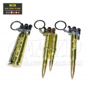 Bật lửa quẹt zippo bằng vỏ đạn (COMBO 3 CÁI)