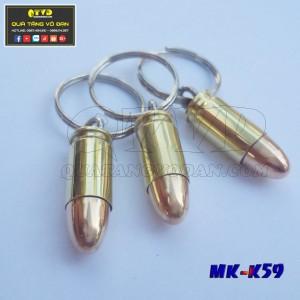 Móc khóa vỏ đạn 9x19mm Parabellum
