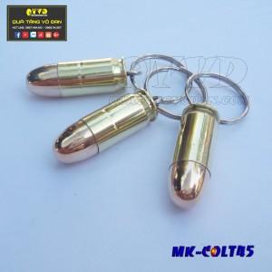 Móc khóa vỏ đạn Colt45